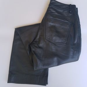 Wilson's Black Leather Mid Rise Bootcut Pants 6